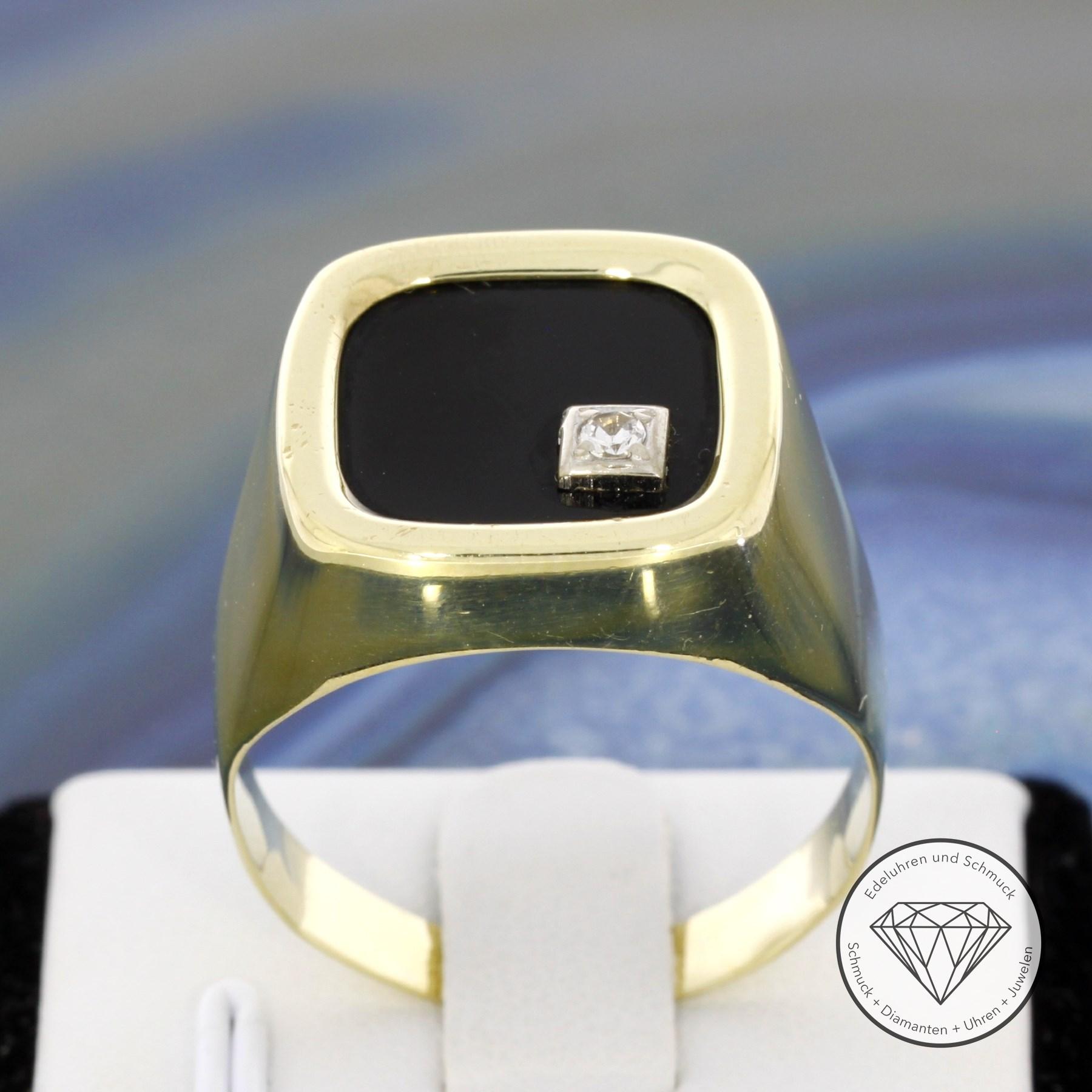 wert 480 formsch ner 333 8 karat gelb gold onyx quarz. Black Bedroom Furniture Sets. Home Design Ideas